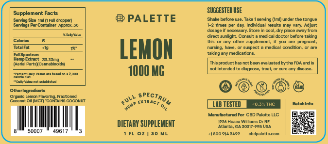 Full Spectrum Lemon Extract - 1000 mg - Palette Market