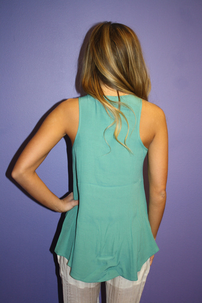 Sunkissed Tank in Teal