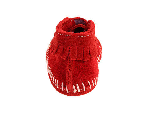 Velcro Front Strap Bootie (Infant's) Red