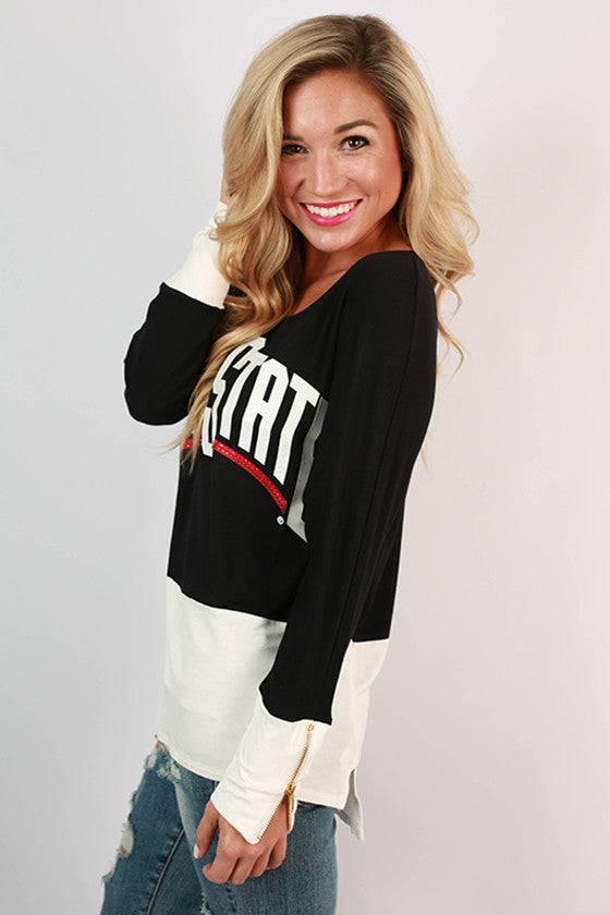 Ohio State University Color Block Tunic