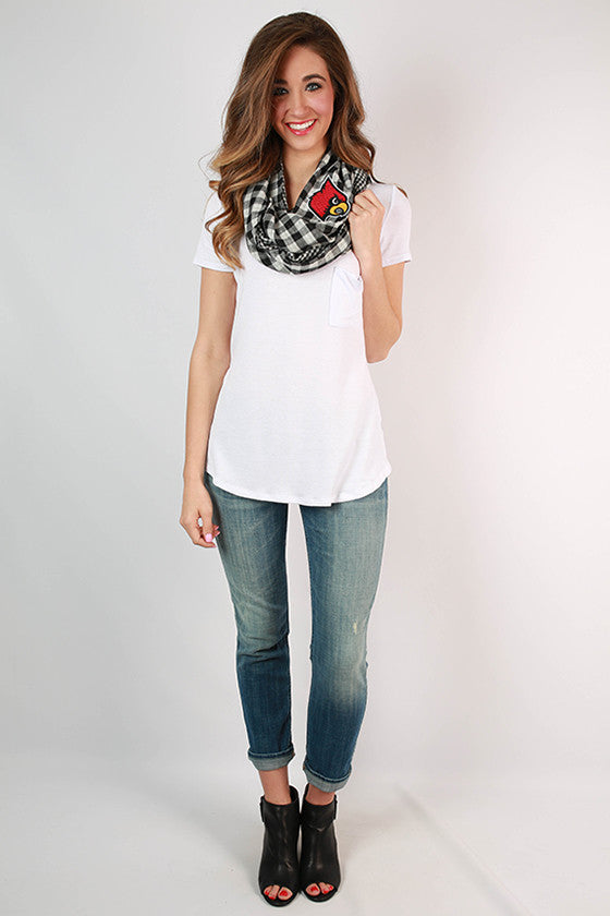 University of Louisville Gingham Infinity Scarf