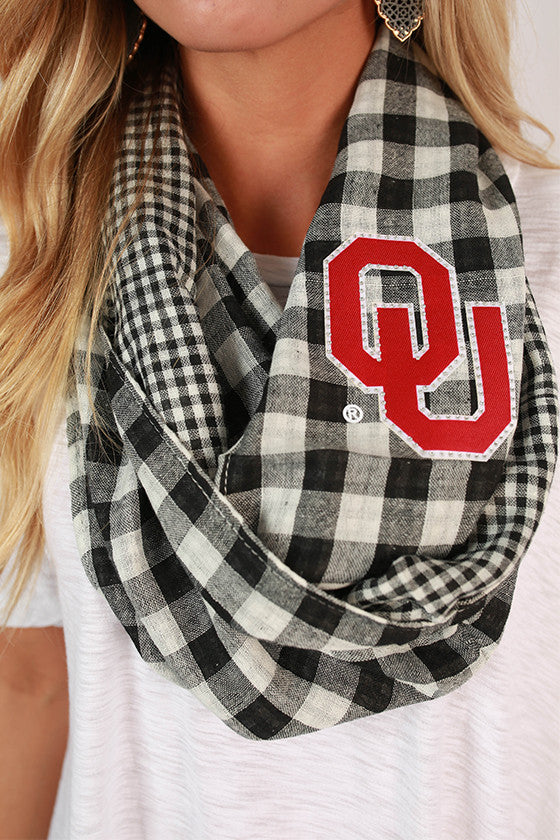 University Of Oklahoma Gingham Infinity Scarf