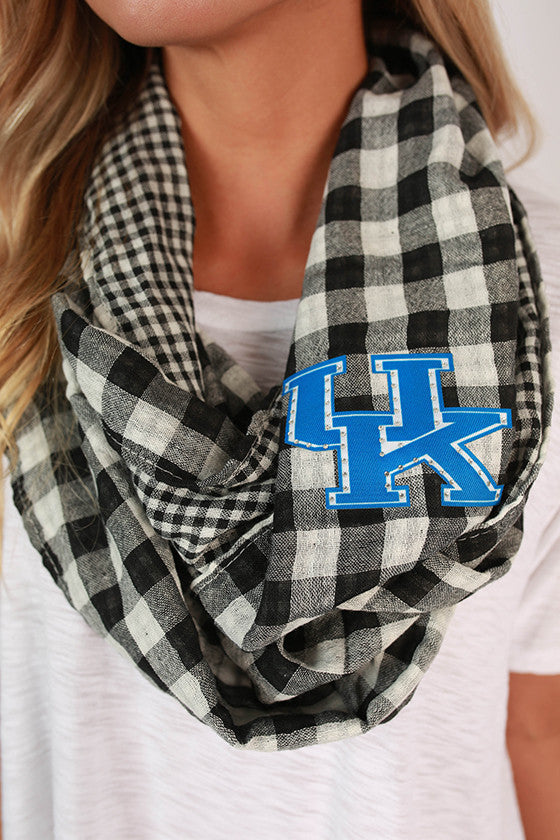 University Of Kentucky Gingham Infinity Scarf