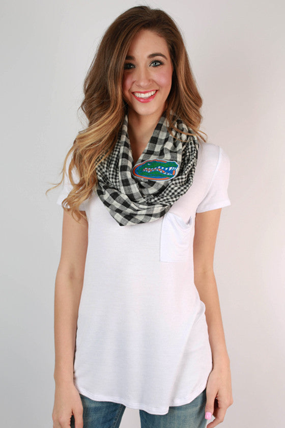 University Of Florida Gingham Infinity Scarf