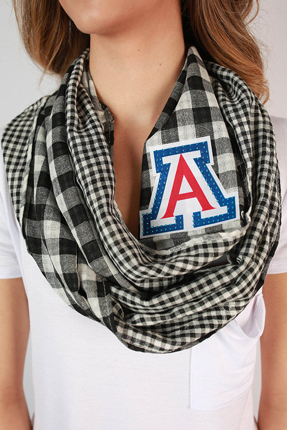 University Of Arizona Gingham Infinity Scarf