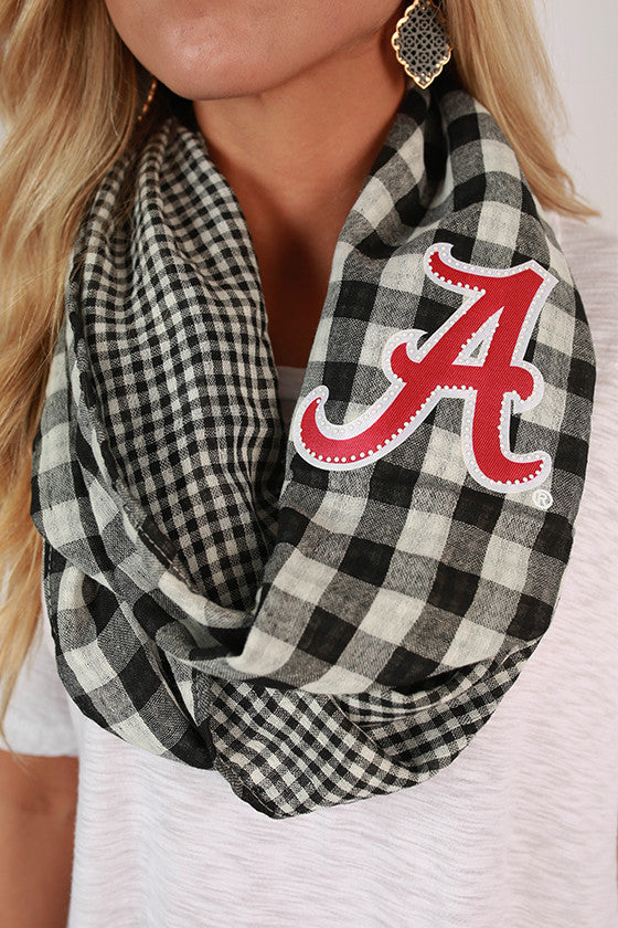 University Of Alabama Gingham Infinity Scarf