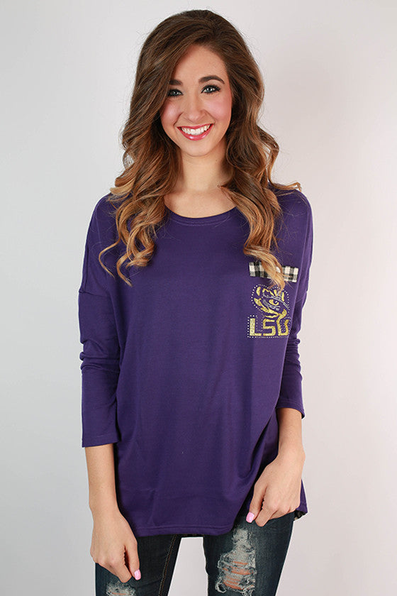 Louisiana State University Gingham Tunic