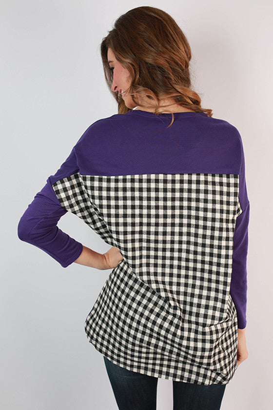 Texas Christian University Gingham Tunic