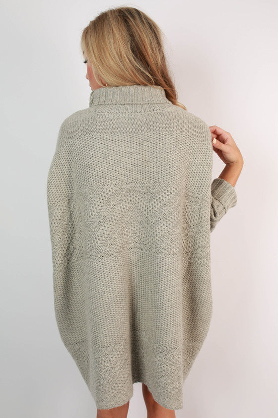 Luxe Cuddles Tunic Sweater in Grey