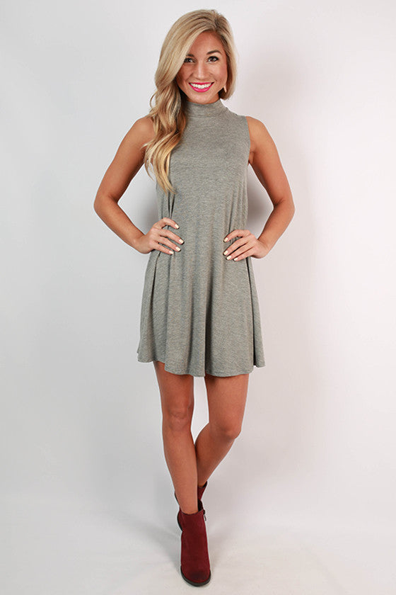 First Class Flight Tank Dress in Grey