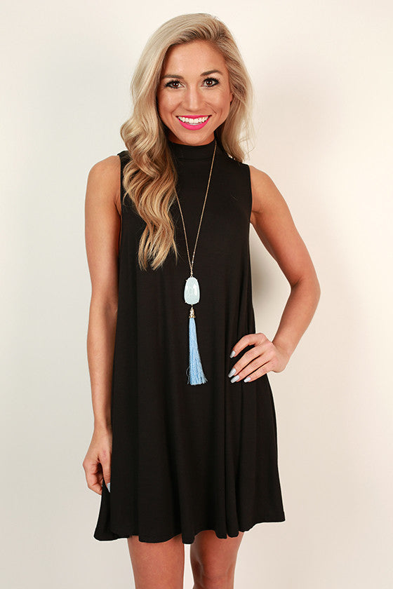 First Class Flight Tank Dress in Black