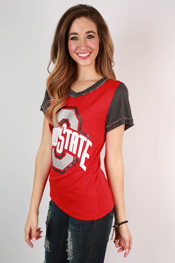 Ohio State University Football Burnout Tee