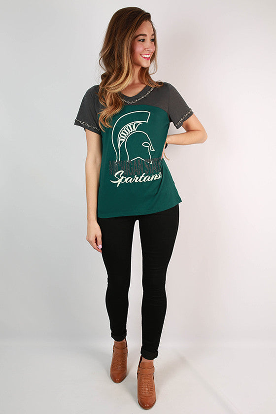 Michigan State University Football Burnout Tee