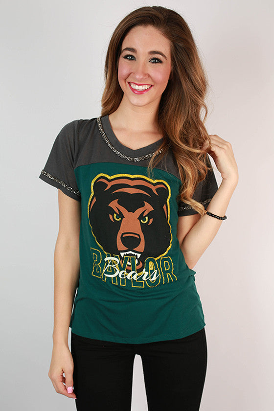 Baylor University Football Burnout Tee