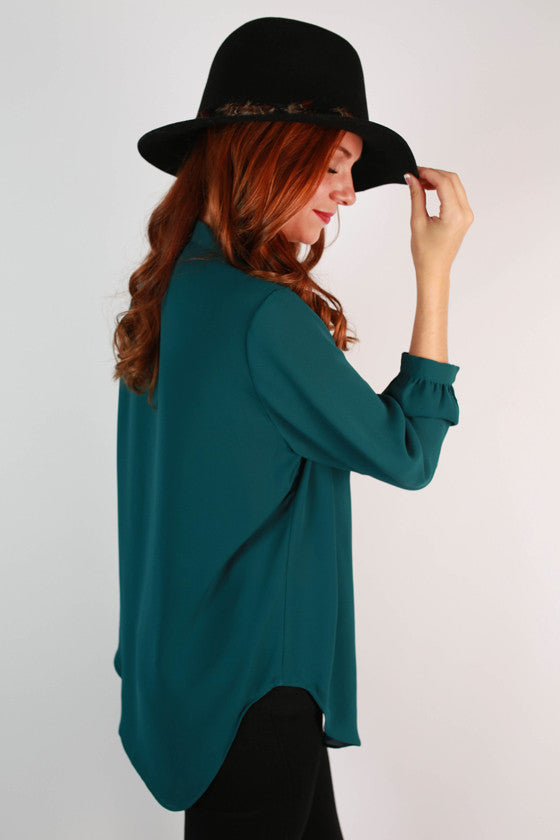 Juniper Darling Top in Teal