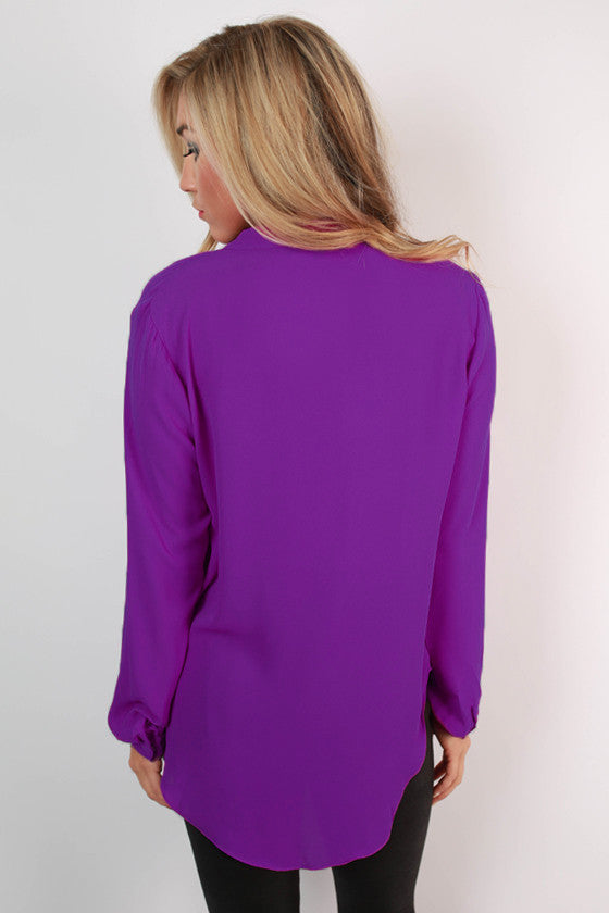 Juniper Darling Top in Royal Lilac
