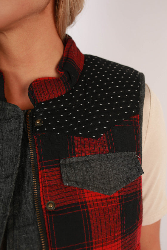 Ski Lodge Check Vest