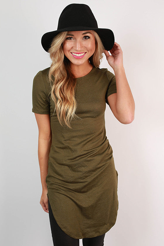The Royal Standard Tunic Tee in Army Green