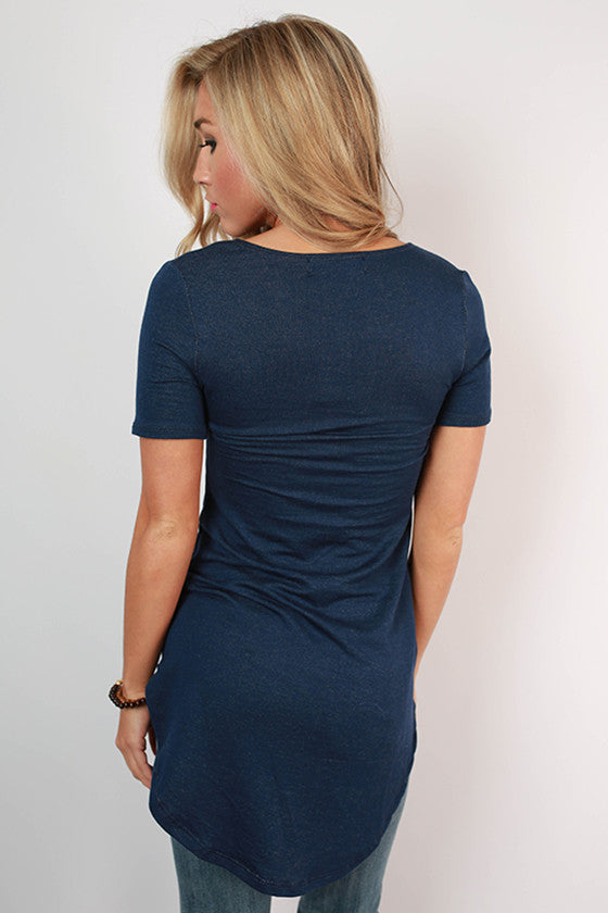 The Royal Standard Tunic Tee in Dark Blue