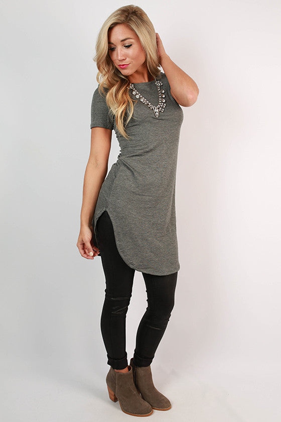 The Royal Standard Tunic Tee in Grey