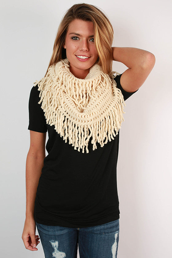 Cozy Cuddles Infinity Scarf in Ivory