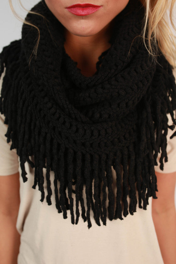Cozy Cuddles Infinity Scarf in Black