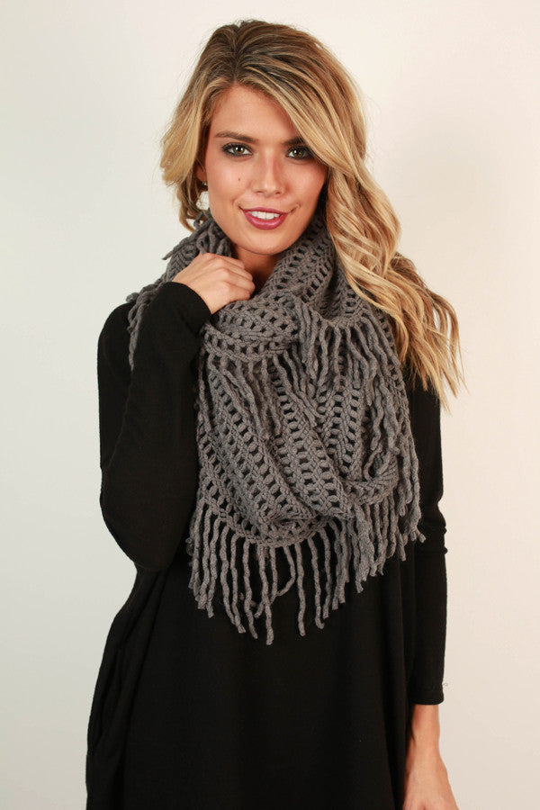 Cozy Cuddles Infinity Scarf in Grey