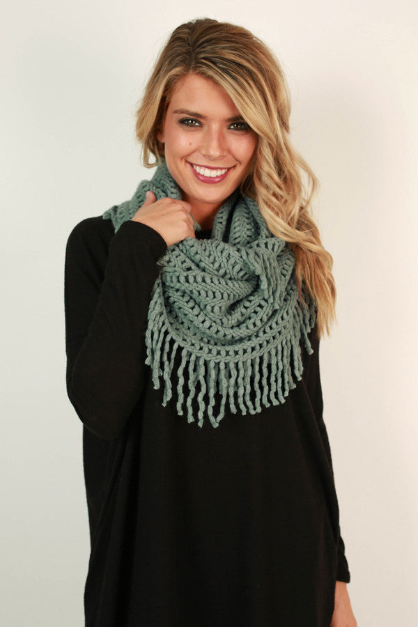 Cozy Cuddles Infinity Scarf in Deep Ocean Wave