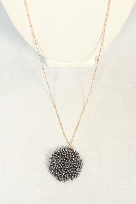 Sparkle For Days Necklace in Slate