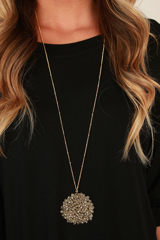 Sparkle For Days Necklace in Champagne