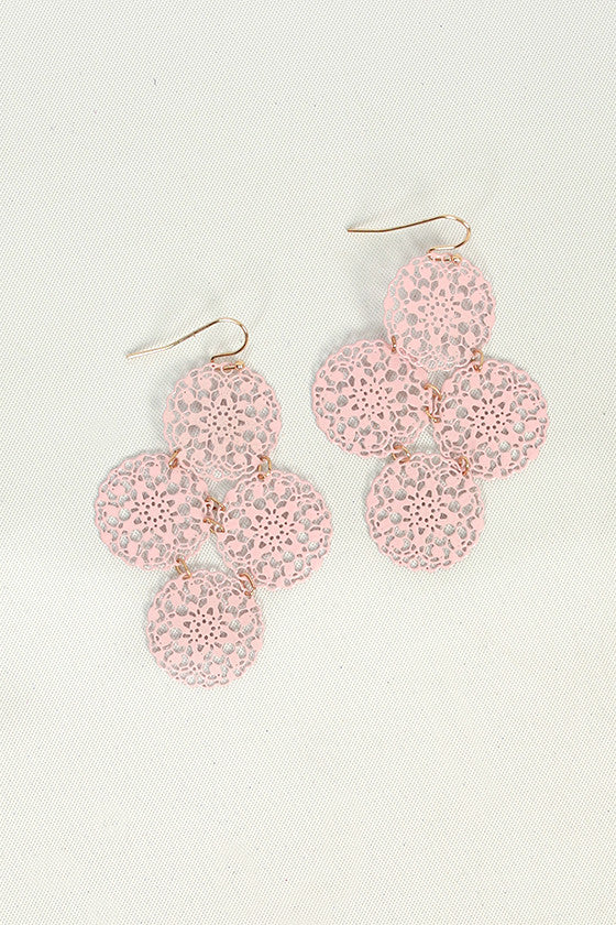 Sweet Like Sugar Earrings in Baby Pink