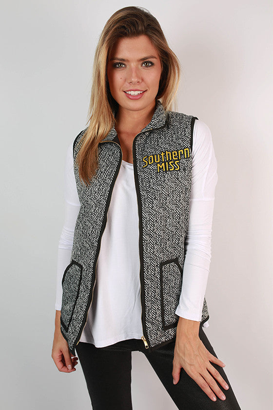 University Of Southern Mississippi Herringbone Vest