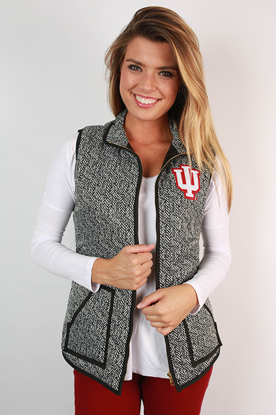 Indiana University Herringbone Vest