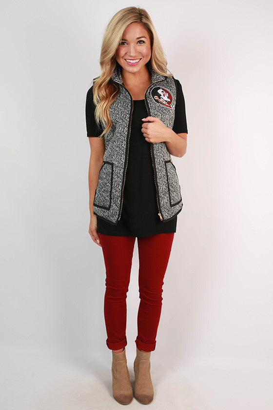 Florida State University Herringbone Vest