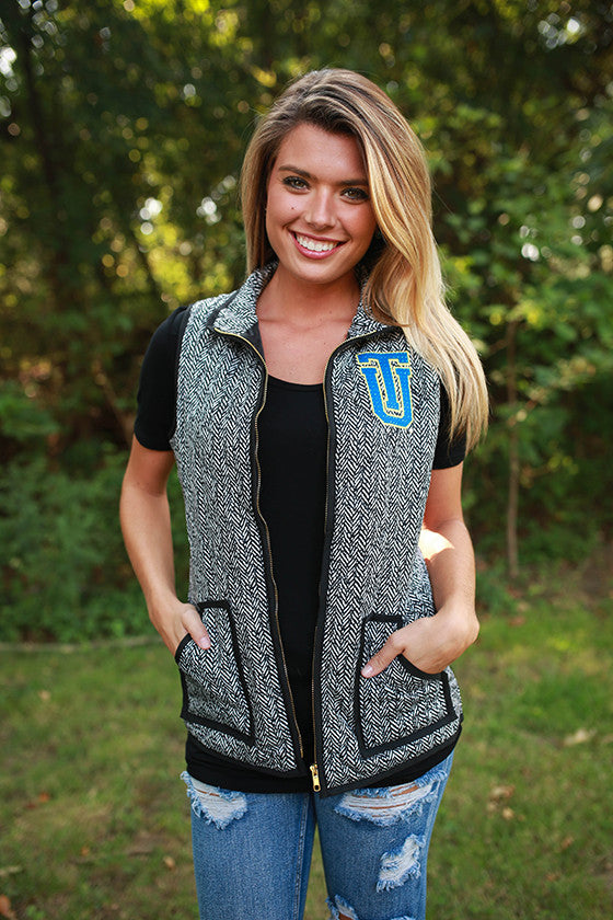 University Of Tulsa Herringbone Vest