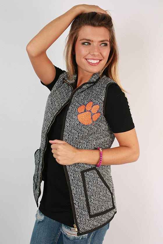 Clemson University Herringbone Vest