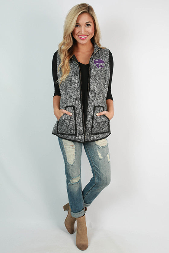 Kansas State University Herringbone Vest