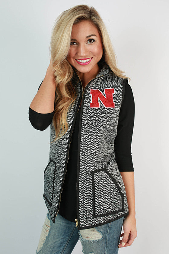 University Of Nebraska Herringbone Vest