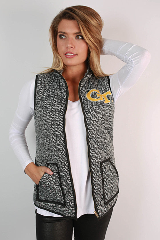 Georgia Tech University Herringbone Vest