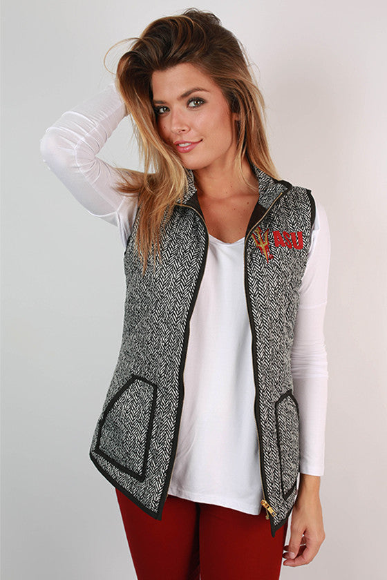 Arizona State University Herringbone Vest
