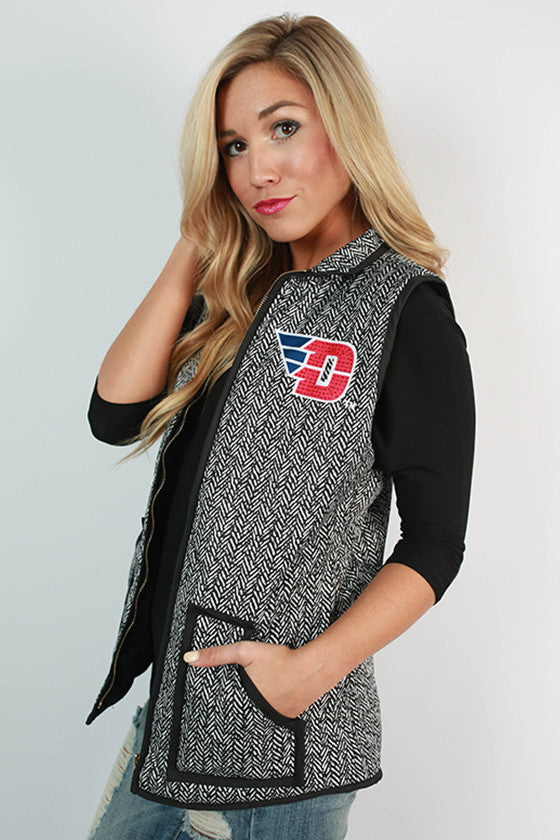 University Of Dayton Herringbone Vest