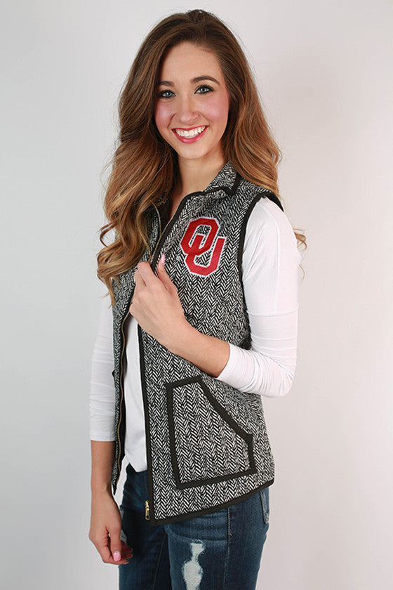 University Of Oklahoma Herringbone Vest