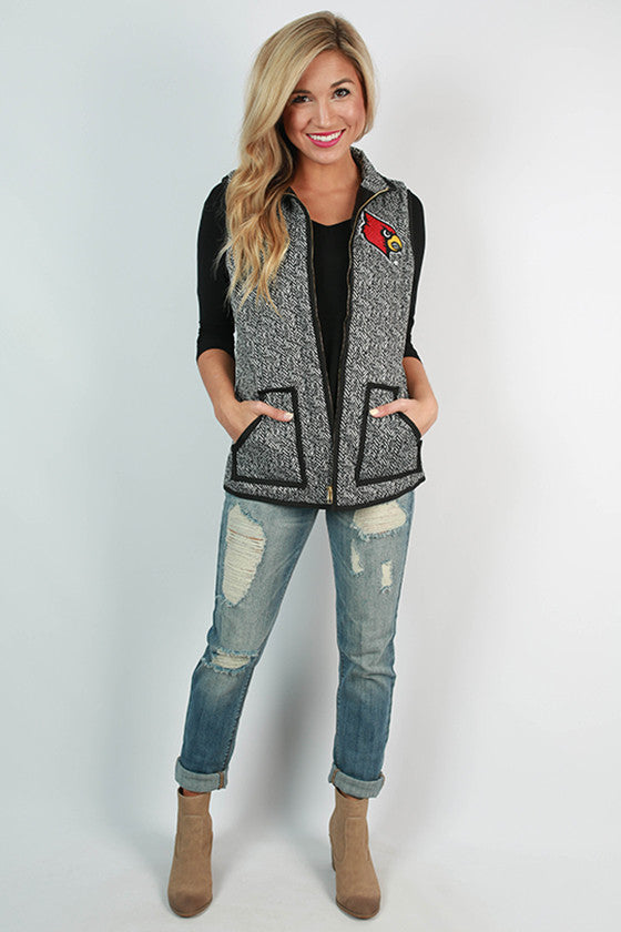University Of Louisville Herringbone Vest