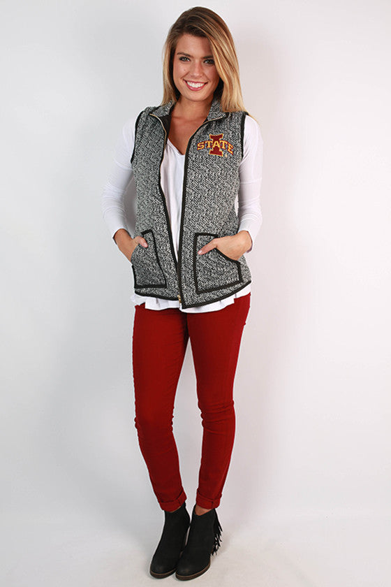 Iowa State University Herringbone Vest