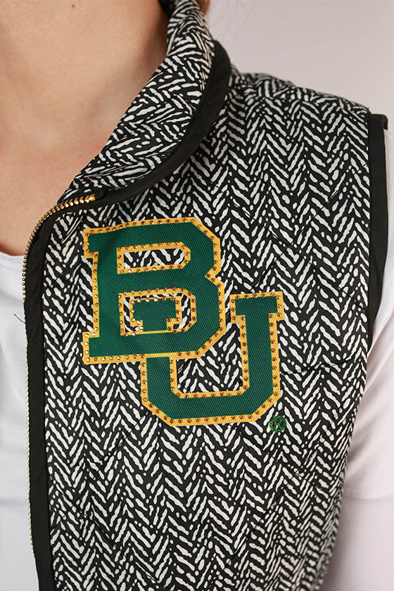 Baylor University Herringbone Vest