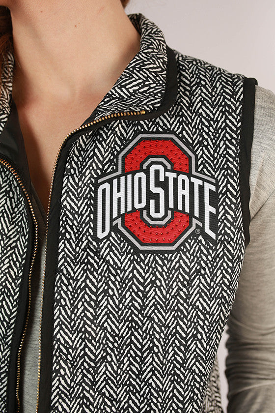 Ohio State University Herringbone Vest