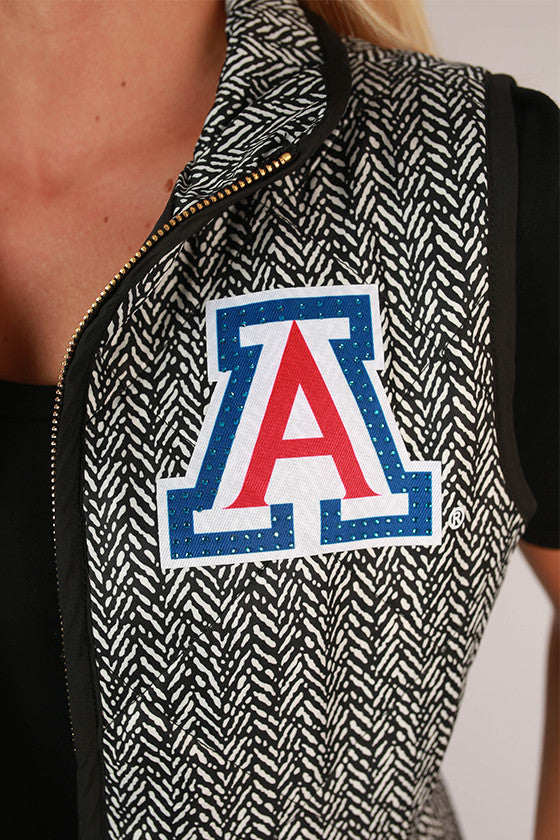 University Of Arizona Herringbone Vest