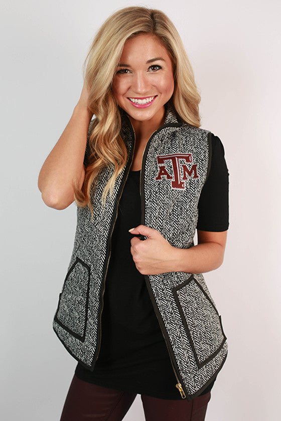 Texas A&M University Herringbone Vest