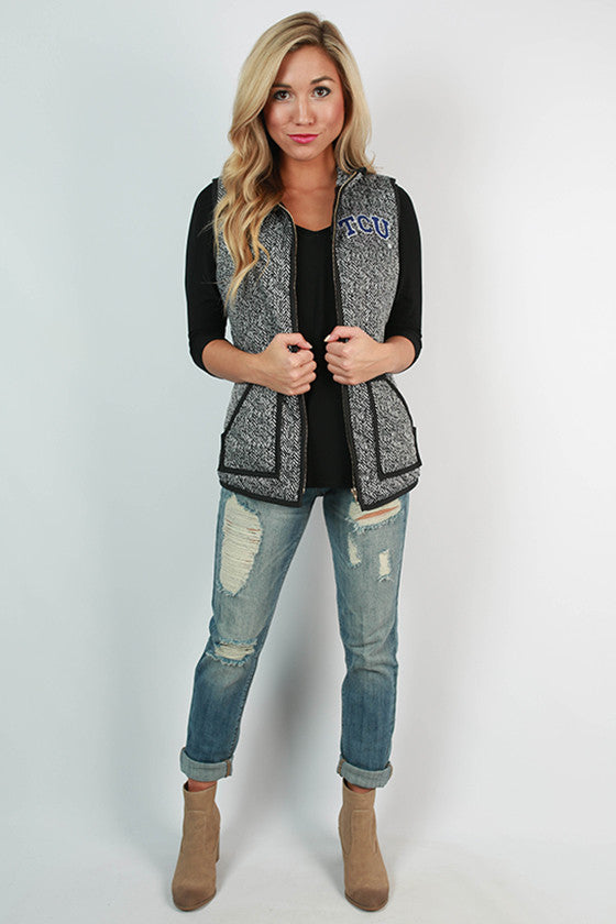 Texas Christian University Herringbone Vest