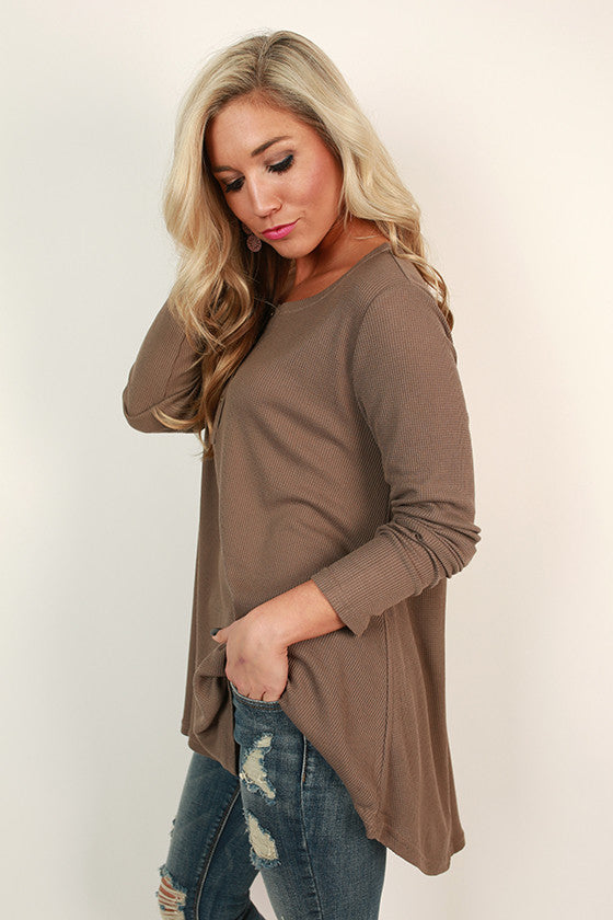 Keeping Traditions Thermal Swing Top in Mocha